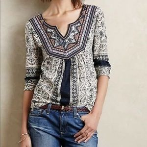Anthropologie Akemi + Kin Beaded Sequin Top Small